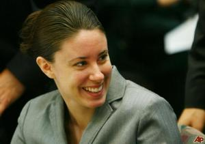 Casey Anthony shown during trial